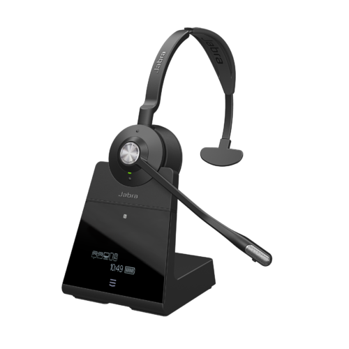Jabra Engage 75 Mono_docked_light background