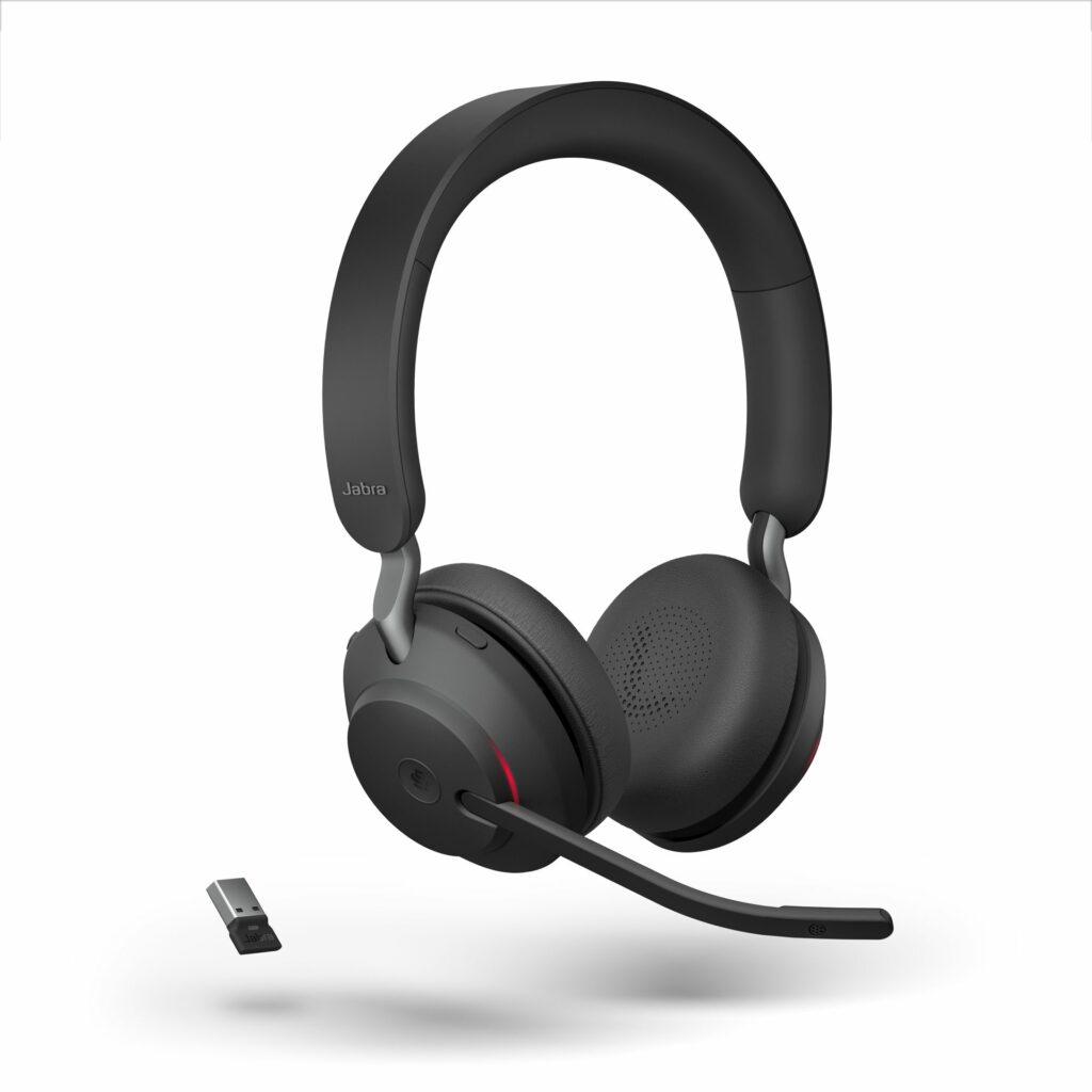 Jabra Evolve2 65 Teams Black Stereo Angled Busylight with USB-A Dongle LB