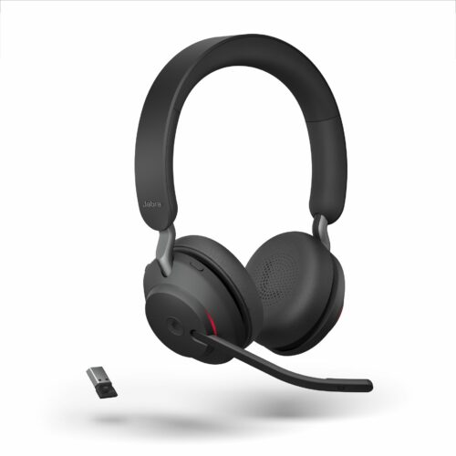 Jabra Evolve2 65 Teams Black Stereo Angled Busylight with USB-A Dongle LB