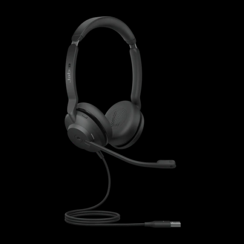 Jabra Evolve2 30 Stere Front with cable